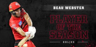 Beau Webster player of the season in BBL09