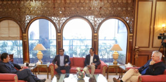 Meeting of Imran Khan with Karachi Kings