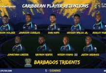 CPL: Barbados Tridents announce local player retentions