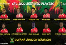 Guyana Amazon Warriors have announced the West Indian players