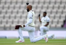 CWI: West Indies take a knee in support of Black Lives Matter