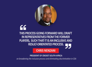 Chris Nenzani, President Of Cricket South Africa (On Broadening The Inclusive Process And Eliminating Discrimination In Csa)
