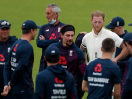 ECB: Ben Stokes leads tribute with key worker names featuring on his team's shirts as first #raisethebat Test gets under way