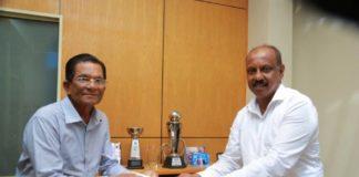 SLC Felicitates Two Veteran Umpires