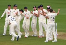 ICC: Late wickets leave England on top after rain-shortened first day