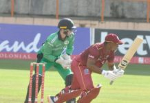 CWI: Lendl & Lewis deal in sixes in T20i vs Ireland