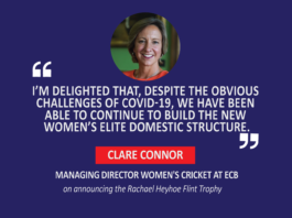 Clare Connor, Managing Director Women's Cricket, ECB on announcing the Rachael Heyhoe Flint Trophy