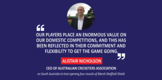 Alistair Nicholson, CEO, Australian Cricketers Association on South Australia to host opening four rounds of Marsh Sheffield Shield