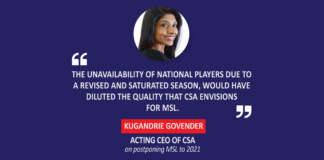 Kugandrie Govender, Acting CEO, CSA on postponing MSL to 2021