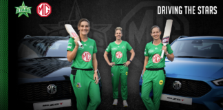 MG Motor drives the Melbourne Stars