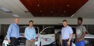 Cricket Namibia: Brand New Cars for Cricket Sponsored by Pupkewitz Toyota