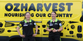 Sydney Thunder continue support of Ozharvest