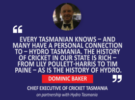 Dominic Baker, Chief Executive of Cricket Tasmania on partnership with Hydro Tasmania