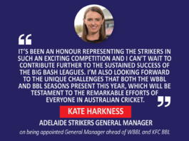 Kate Harkness, Adelaide Strikers General Manager on being appointed General Manager ahead of WBBL and KFC BBL