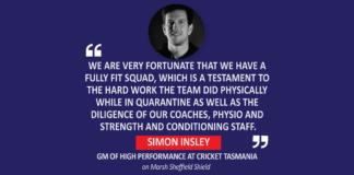 Simon Insley, General Manager of High Performance, Cricket Tasmania on Marsh Sheffield Shield