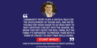 Stuart Whiley, Head of Participation and Programs at Cricket Australia on launching Anywhere Blast