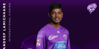 Hobart Hurricanes: Lamichhane completes Hurricanes list for BBL 10