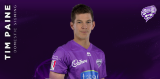 Hobart Hurricanes: Paine jumps on the Cane Train for BBL 10