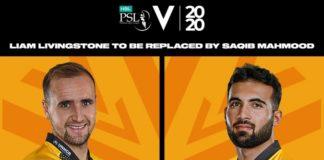 PCB: Saqib Mahmood replaces Liam Livingstone in Peshawar Zalmi squad