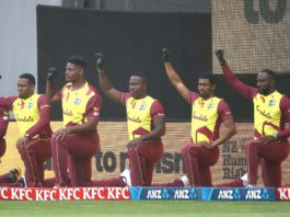 "CWI: West Indies and New Zealand ""Take a knee"" before 1st T20I in Auckland"