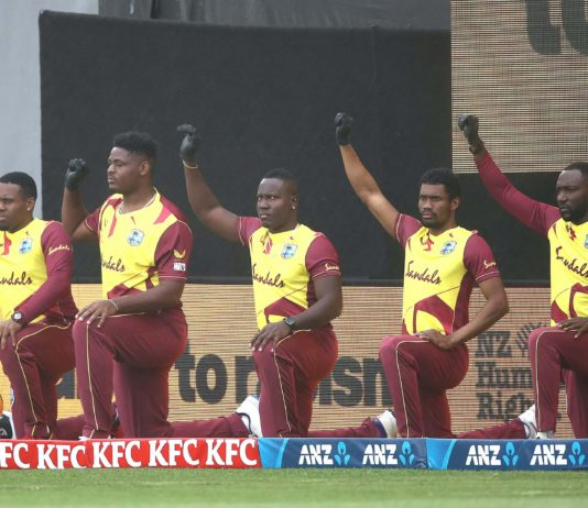 """CWI: West Indies and New Zealand """"Take a knee"""" before 1st T20I in Auckland"""