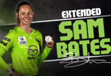 Sydney Thunder: Sam Bates extends
