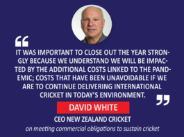 David White, CEO New Zealand Cricket (on meeting commercial obligations to sustain cricket)