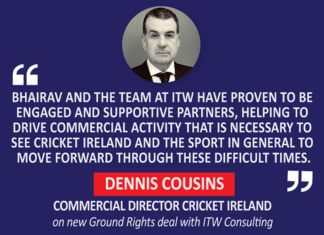 Dennis Cousins, Commercial Director Cricket Ireland on new Ground Rights deal with ITW Consulting