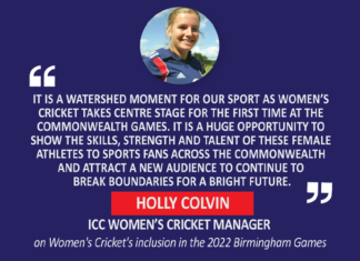 Holly Colvin, ICC Women's Cricket Manager on Women's Cricket's inclusion in the 2022 Birmingham Games