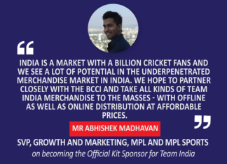 Mr. Abhishek Madhavan, SVP, Growth and Marketing, MPL and MPL Sports on becoming the Official Kit Sponsor for Team India