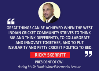 Ricky Skerritt, President of CWI during his Sir Frank Worrell Memorial Lecture