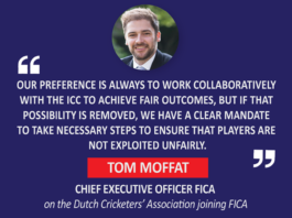 Tom Moffat, Chief Executive Officer FICA on the Dutch Cricketers' Association joining FICA