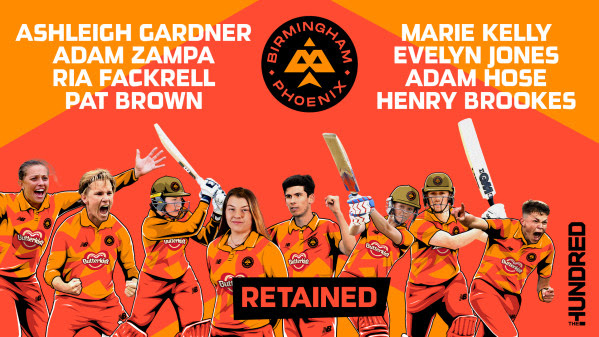 ECB: Aussie stars Gardner and Zampa lead eight players committing to Birmingham Phoenix in The Hundred