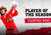 Melbourne Renegades: Webb voted WBBL Player of the Season