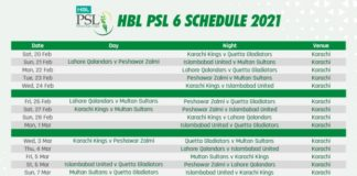 PCB: HBL PSL 2021 schedule announced