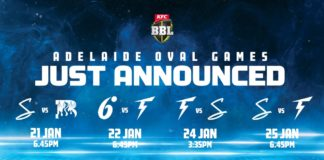 Adelaide Strikers to play three additional games at Adelaide Oval in BBL|10! ​