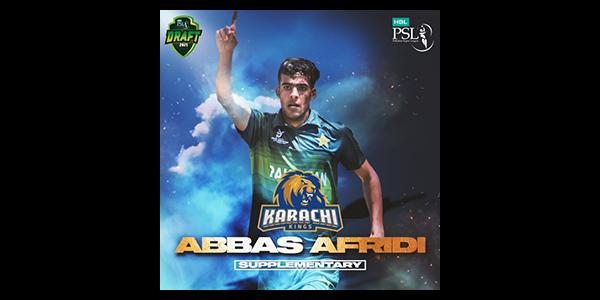 PCB: Abbas Afridi included in Karachi Kings squad