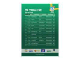 Fixtures announced for CSA T20 Challenge