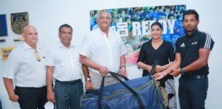 SLC donates equipment to Girls Cricket of Jayasiripura School in Polonnaruwa