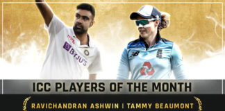 Ravichandran Ashwin and Tammy Beaumont voted ICC Player of the Month for February 2021