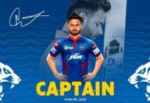 Rishabh Pant to Lead Delhi Capitals in IPL 2021