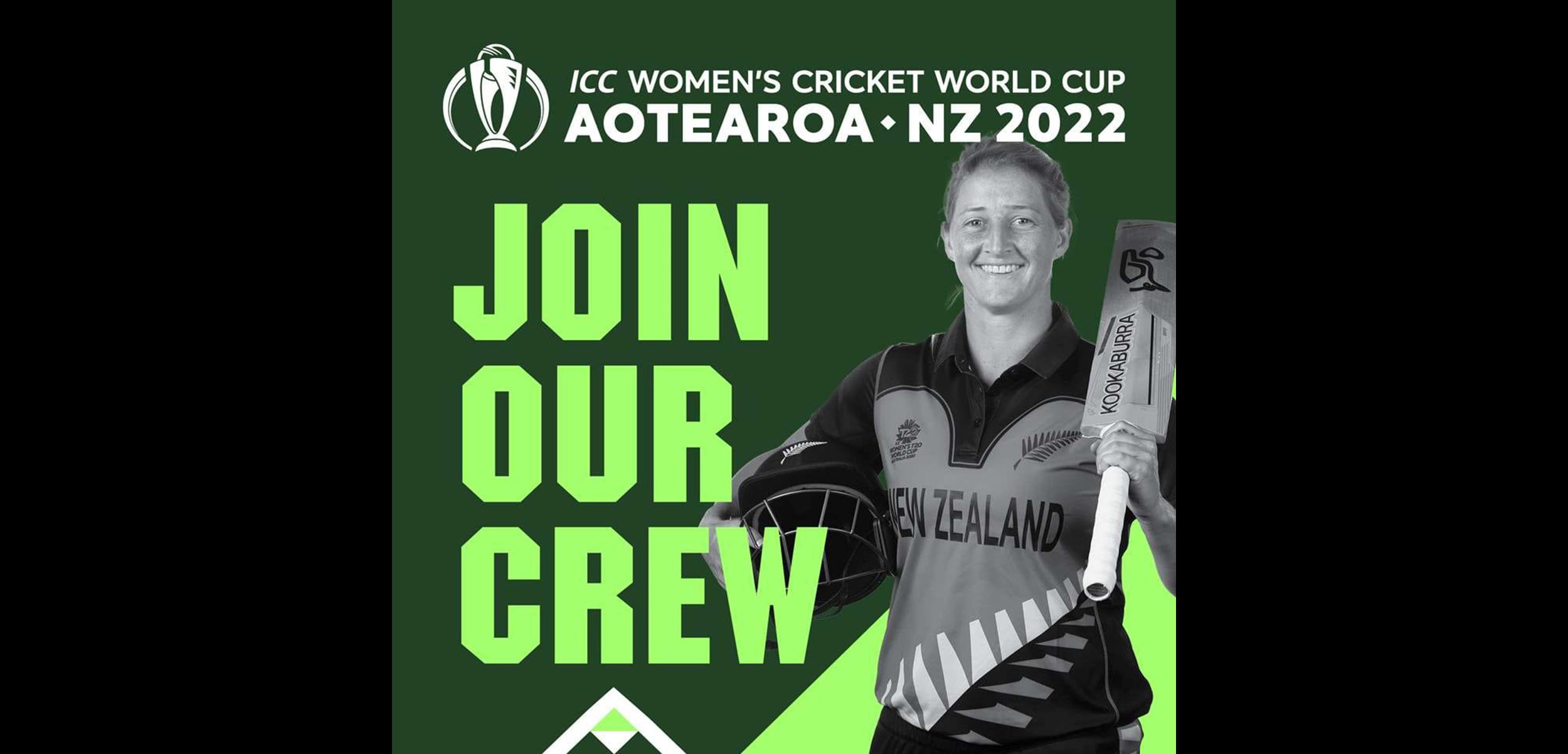 NZC: ICC Women's CWC22 calls for volunteers