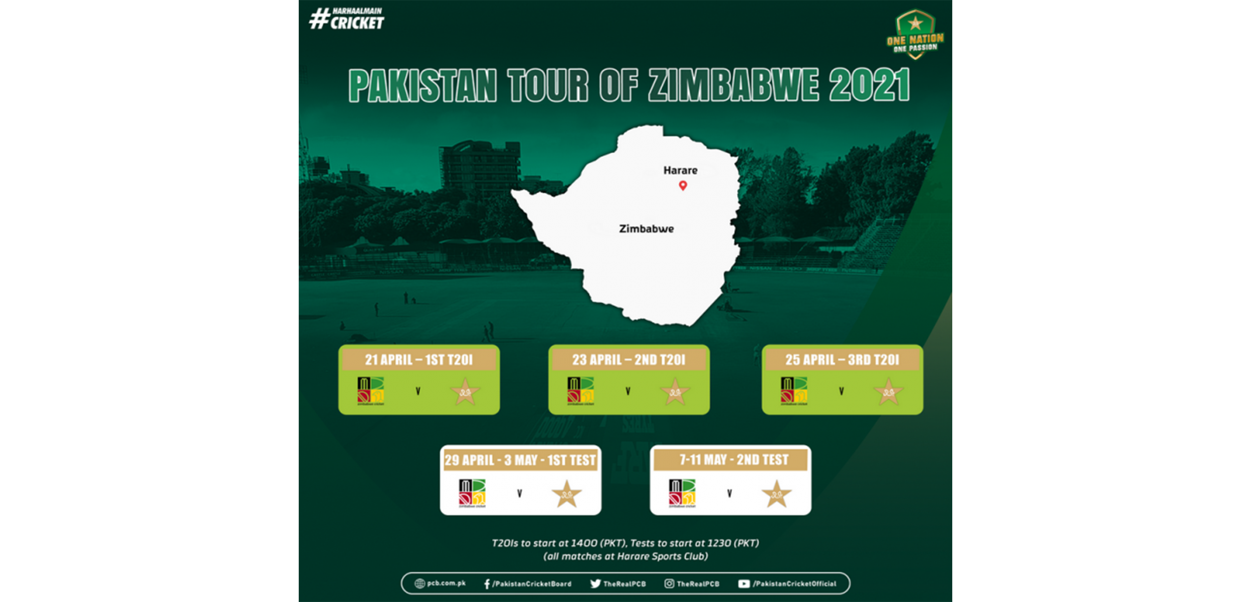 PCB: Pakistan to become first international cricket side to tour Zimbabwe post Covid-19 outbreak