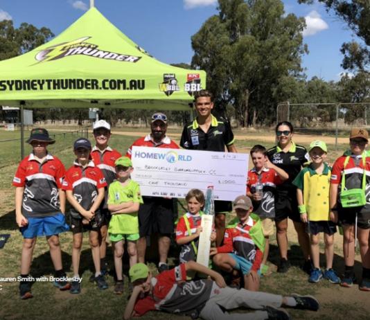 Sydney Thunder: HomeWorld continue support of grassroots cricket