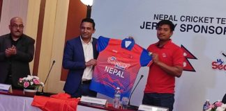 Cricket Nepal unveils new team jersey with My second teacher as sponsor