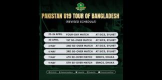 PCB: Pakistan U19 team to leave for Bangladesh on 17 April