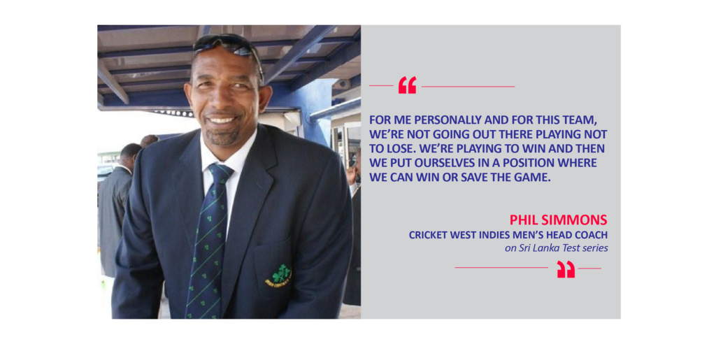 Phil Simmons, Cricket West Indies Men's Head Coach on Sri Lanka Test series