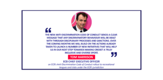 Tom Harrison, ECB Chief Executive Officer on ECB's Anti-Discrimination Code of Conduct rollout to recreational leagues and clubs under the ECB's jurisdiction