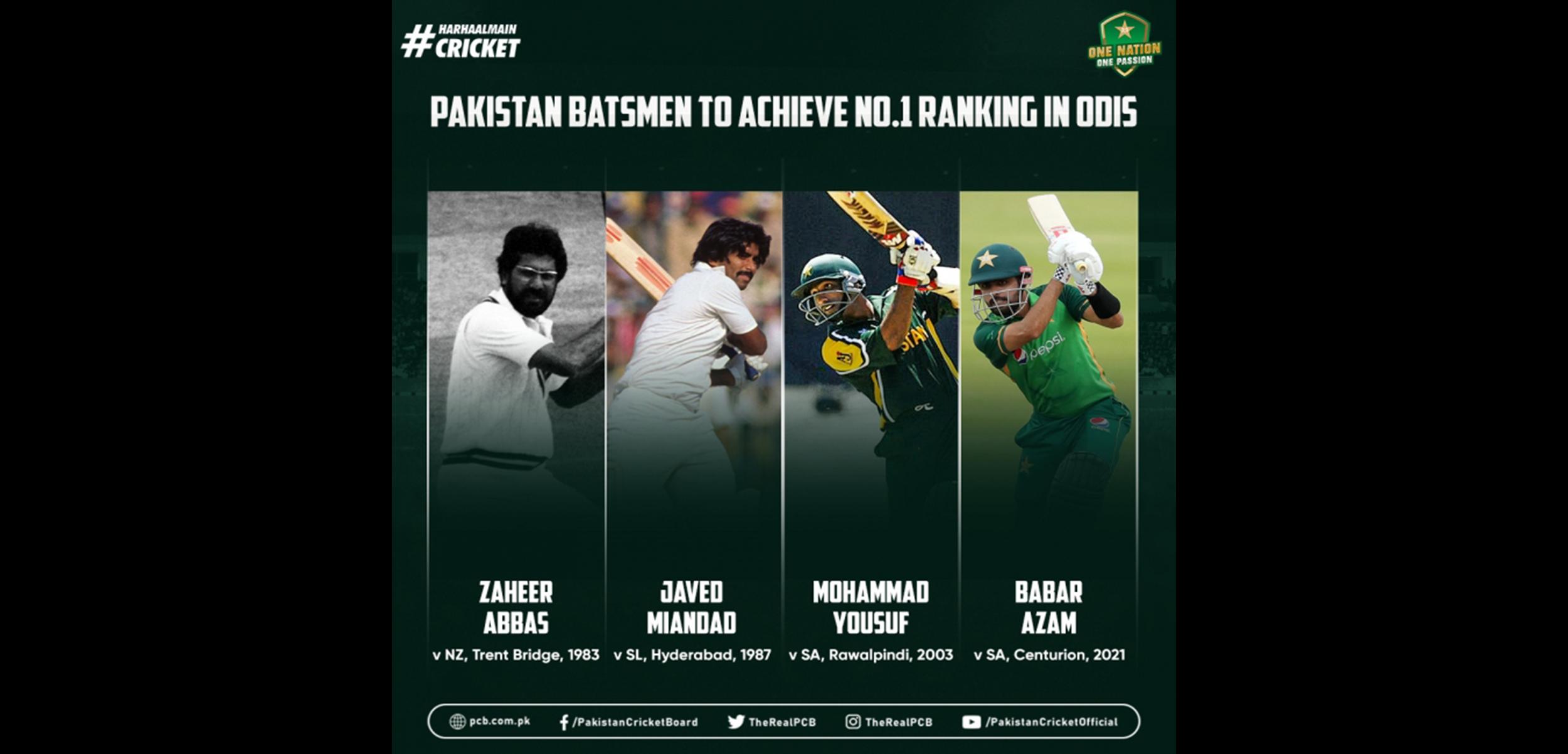 PCB: Babar Azam finishes South Africa ODIs as No.1 ranked batsman
