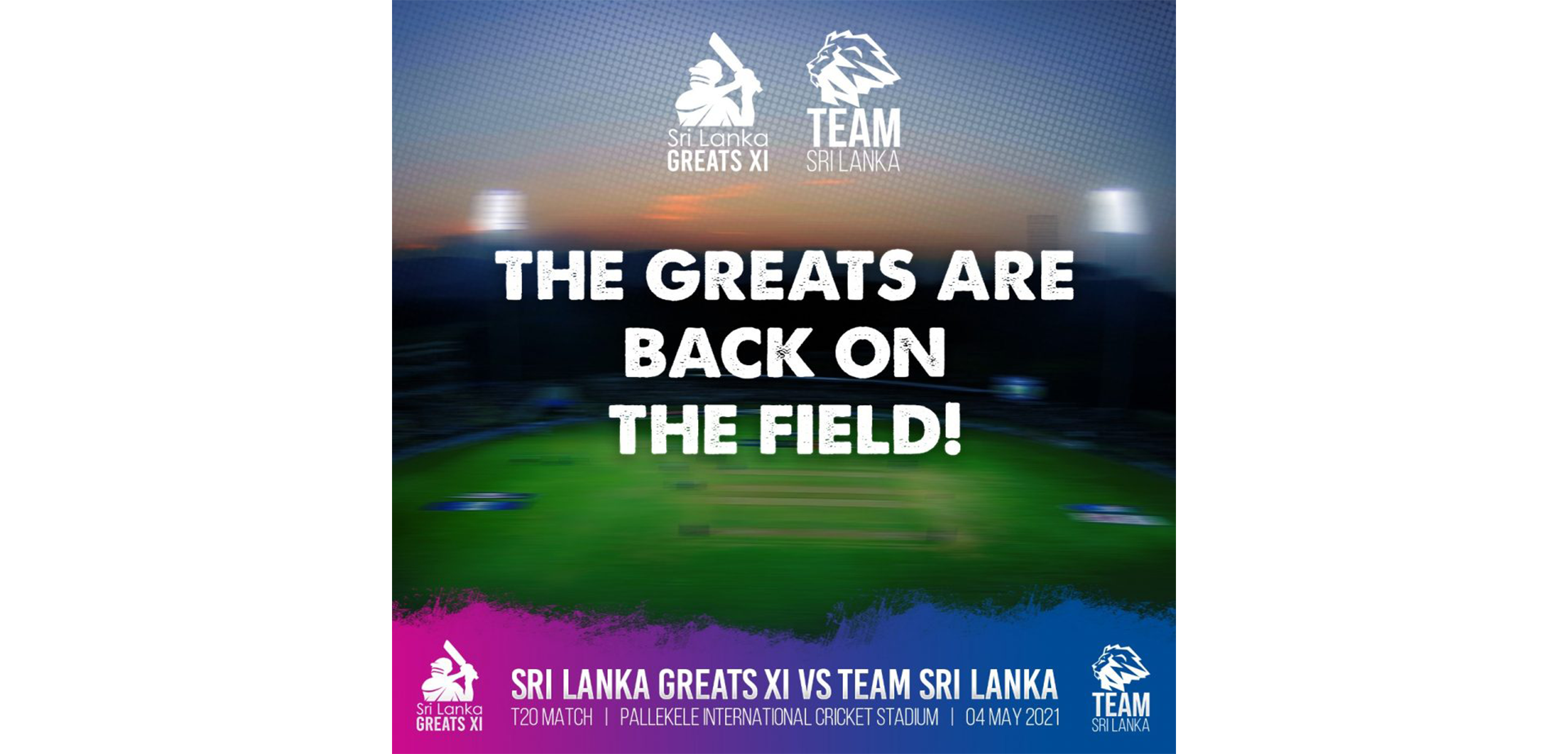 Sri Lanka Cricket organizes a charity game to raise funds to fight Covid-19